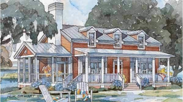 Our Best Beach House Plans For Cottage Lovers Tidewater Cottage Plan 1420 Beach Cottage House Plans Lake House Plans Cottage House Plans