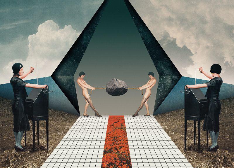 The portfolio of digital collage artist and illustrator Julien Pacaud