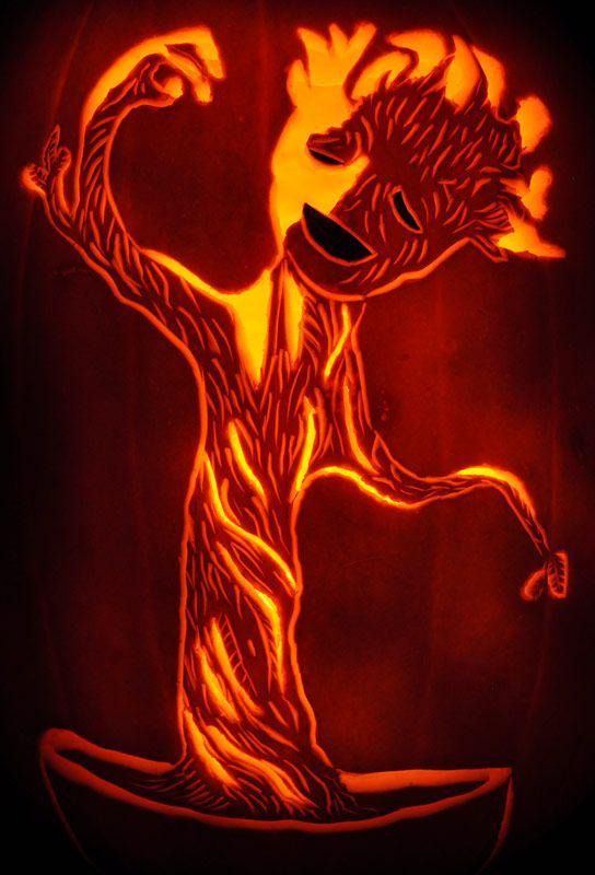 Fantasy Pumpkins: GROOT! Noel's Pumpkin Carving Archive - Pinterest Page 2014   Marvel pumpkin ...