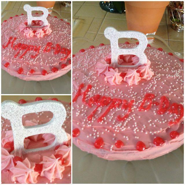 letter b birthday cake