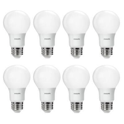 60 Watt Equivalent A19 Non Dimmable Energy Saving Led Light Bulb Daylight 5000k 8 Pack Led Light Bulb Light Bulb Energy Saving Light Bulbs