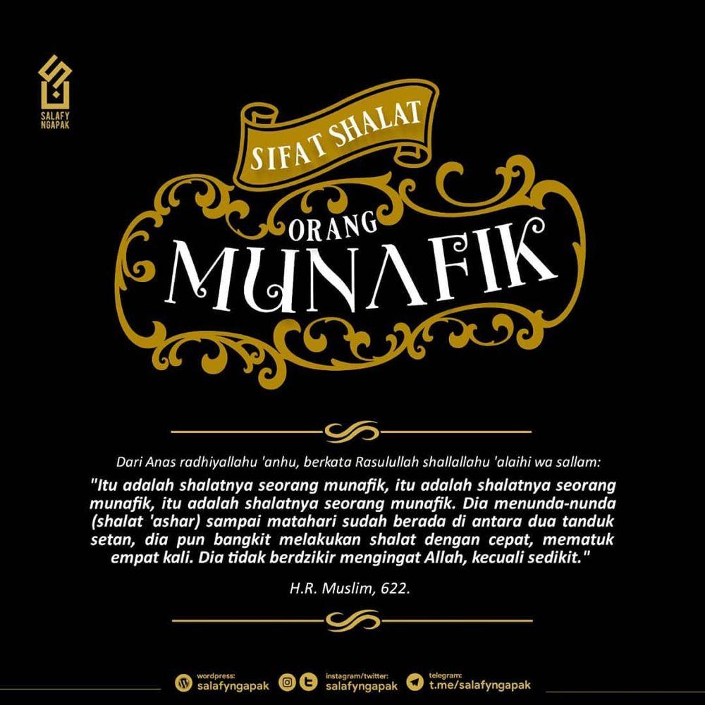 Salafy Ngapak On Instagram Sifat Shalat Orang Munafik Shalat Munafik Malasshalat Shalatcepat Ayam Website Www Salafyngapak Wordpr Orang Empati Agama