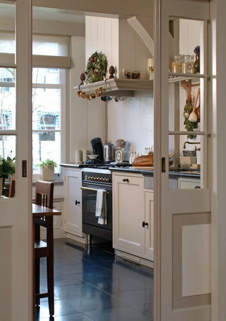 Photo of idee voor tussendeur keuken grote eetplaats (nu living)