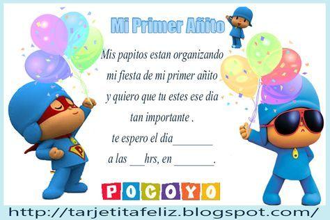Invitaciones De Cumpleaños Pocoyo Para Descargar Al Celular