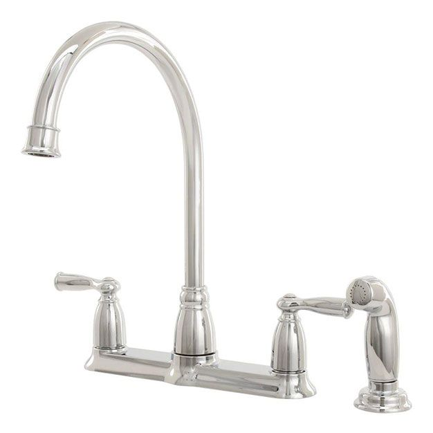 Incroyable MOEN Banbury High Arc Standard Kitchen Faucet With Side Sprayer In   The  Home Depot