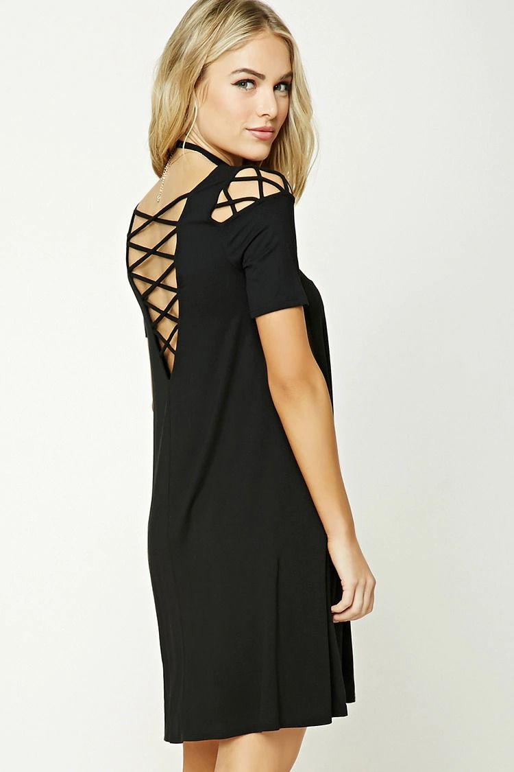 Forever 21 Contemporary - A stretch-knit dress featuring crisscross ...