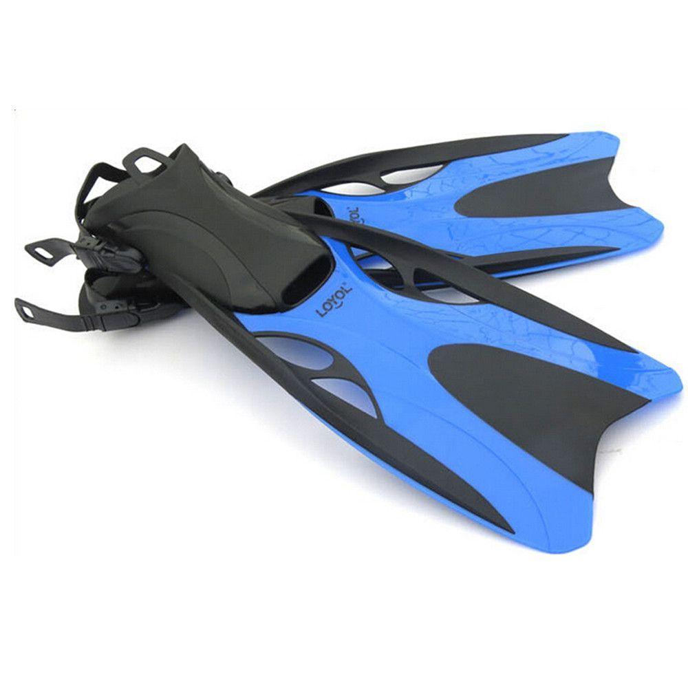 Dive Snorkeling Swimming Scuba Fins Split Fins L Blue ...