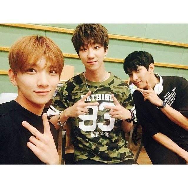"""[PIC] 170608 Seventeen at Lee Suji's Gayo Plaza © kbsgayo on Instagram #디에잇 #THE8 #세븐틴 #SEVENTEEN"""