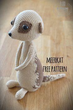 Erdmännchen, kostenlose Häkelanleitung, Muster, Häkelnadel, Erdmännchen, kostenlose Muster, diy #crochetyarn