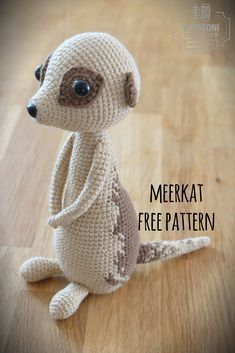 meerkat, free crochet pattern, wzór, szydełko, surykatka, darmowy wzór, diy #crochetanimals