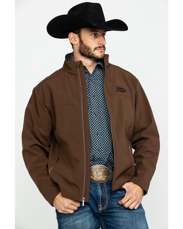 Justin Men S Chocolate Laminated Bonded Jacket Chocolate Bonded Jacket Mens Western Jackets Leather Jacket Men [ 1500 x 1200 Pixel ]