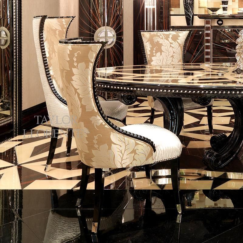 Classic Luxury Designer High Back Chair Taylor Llorente Furniture Luxury Furniture Living Room Glamourous Dining Room Silver Decor Living Room