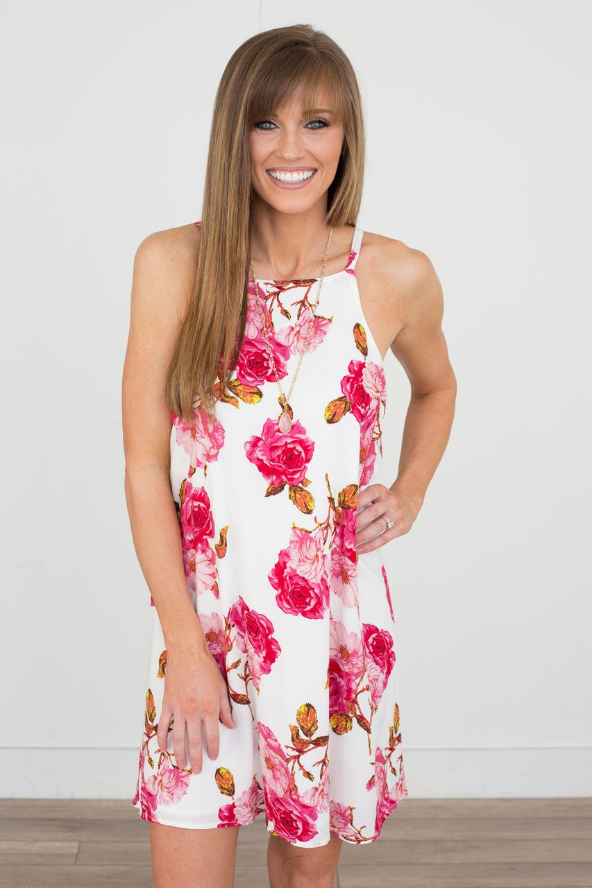 Garden of Roses Dress - Off White - Magnolia Boutique | Must have ...