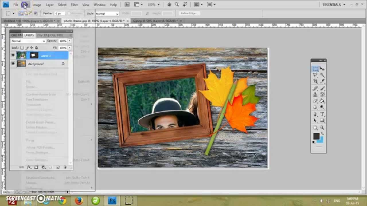 Tutorial How to Create image inside of frame