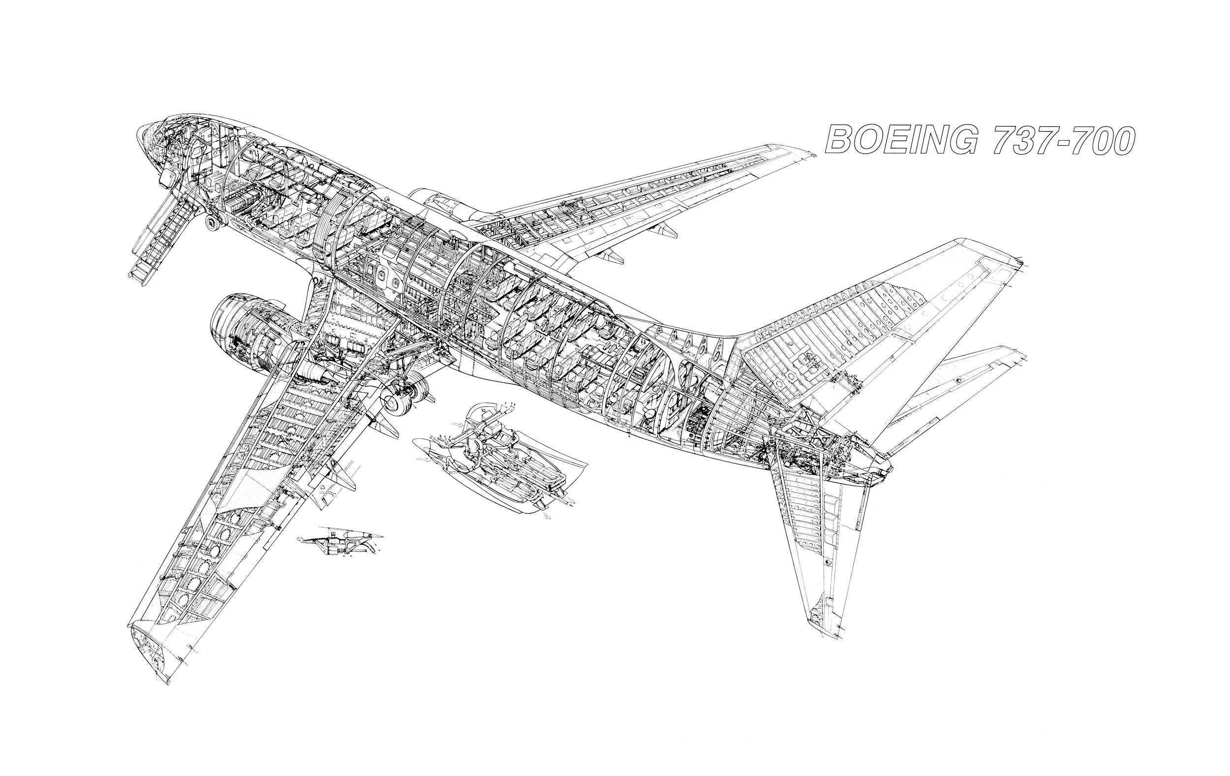 737 fuselage diagram boeing 737-700 cutaway | aerospace cutaways and diagrams ... #7