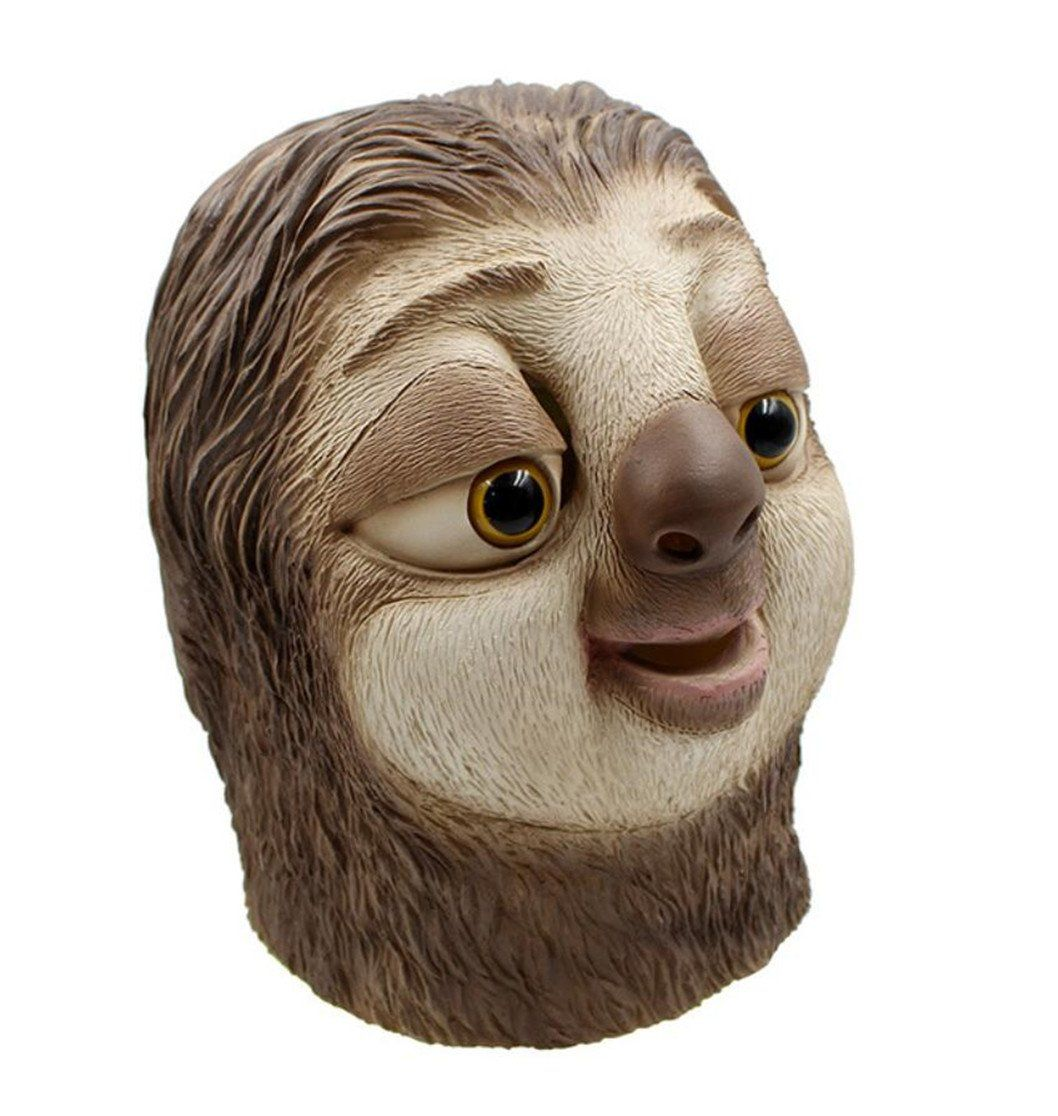 Sloth Big Mango Deluxe Novelty Halloween Costume Party Latex Animal Head Mask for Adults/&Children