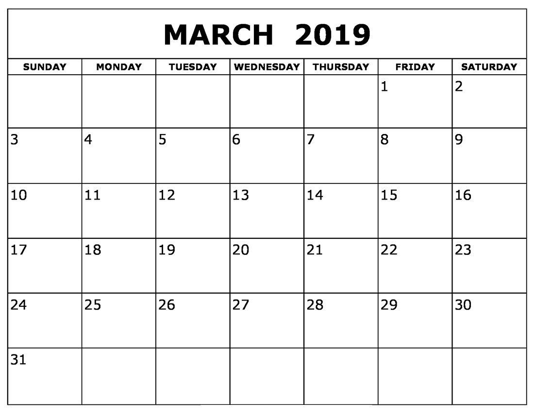 March Calendar 2019 For Words Calendar Printables Calendar