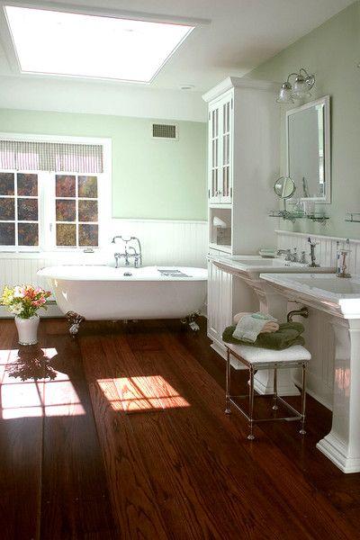 Wood Floor Bathroom Inspiration - Wood Floor Bathroom Inspiration Wood Floor Bathroom, Mint Green