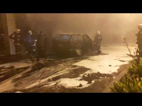 Пьяный влетел в заправку и спалил её. Одесса - YouTube