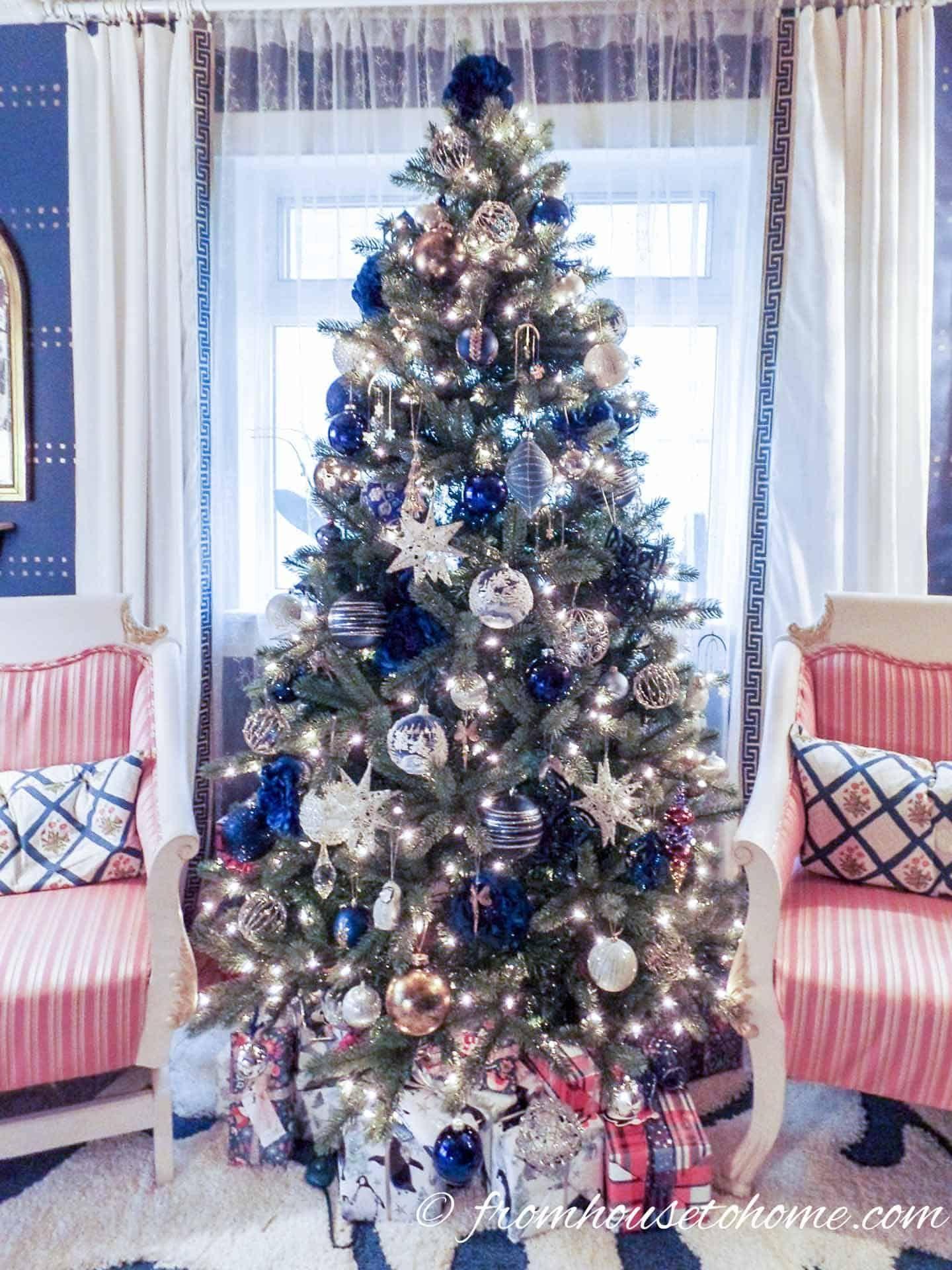 Glam Christmas Tree Decorating Ideas Glam Christmas Tree Blue