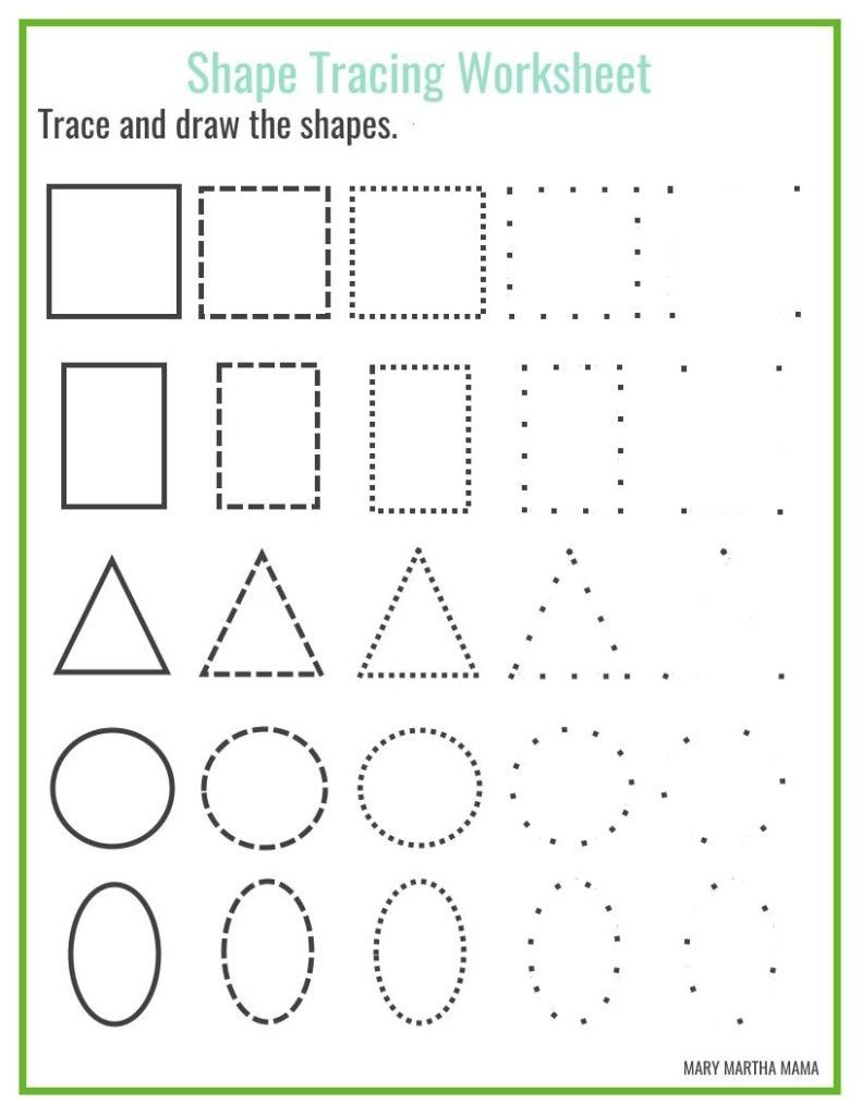 Worksheets Tracing Shapes Worksheets kindergarten coloring pages shapes fresh worksheet tracing worksheets brunokone study site of