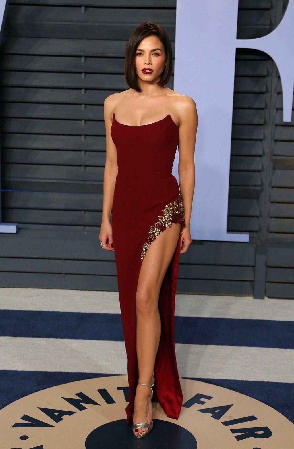 015dff793be0fb Jenna Dewan Tatum wearing Pamella Roland to the 'Vanity Fair' Oscars  after-party.