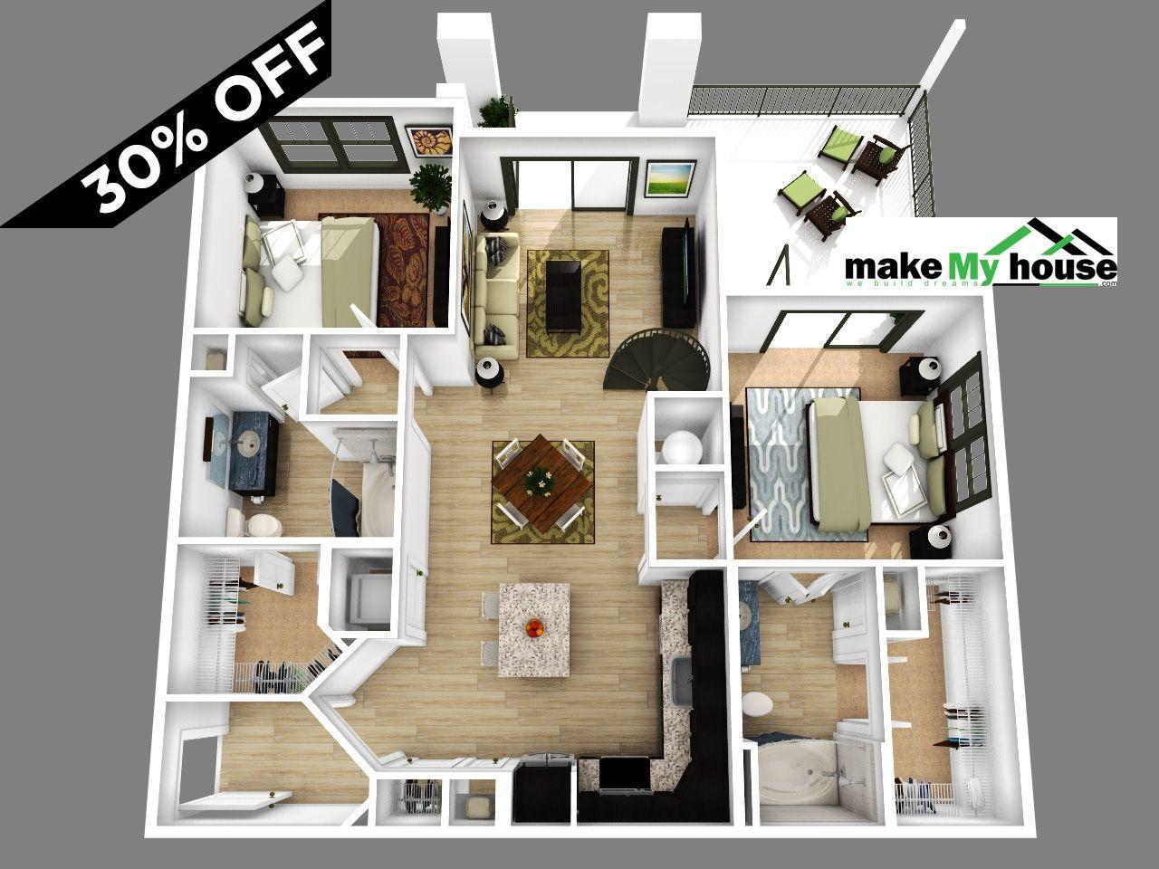 2 Bedroom Apartment Floor Plans A