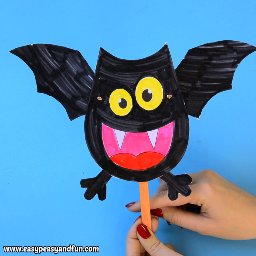 Movable Bat Paper Doll #craft