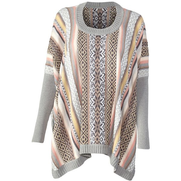 Fair Isle Poncho cabi ❤ liked on Polyvore featuring outerwear ...