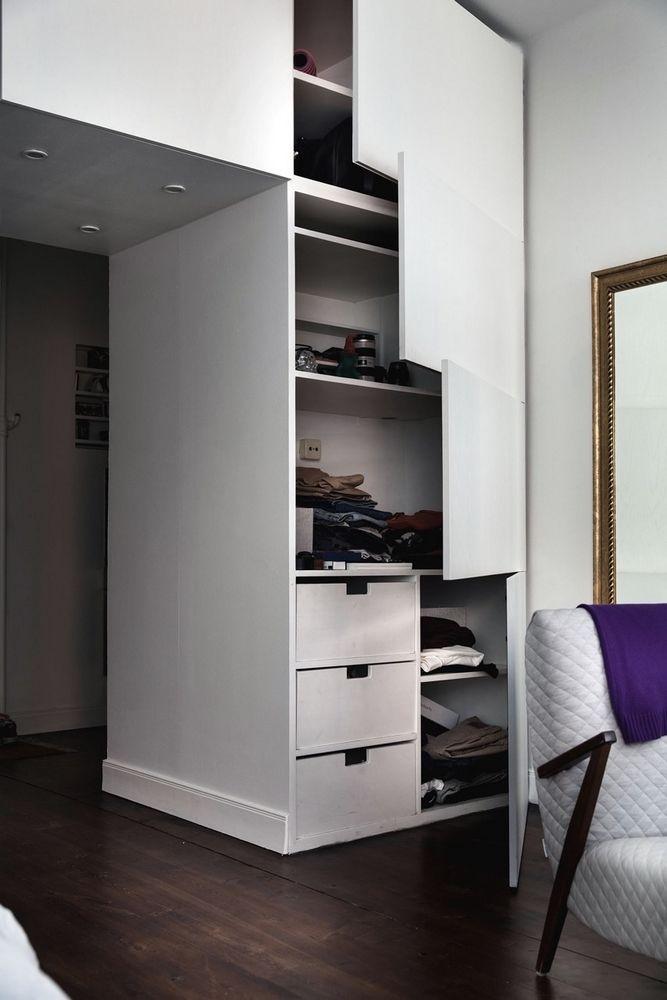 grandes ideas para espacios pequeños: cama abatible oculta en un ...