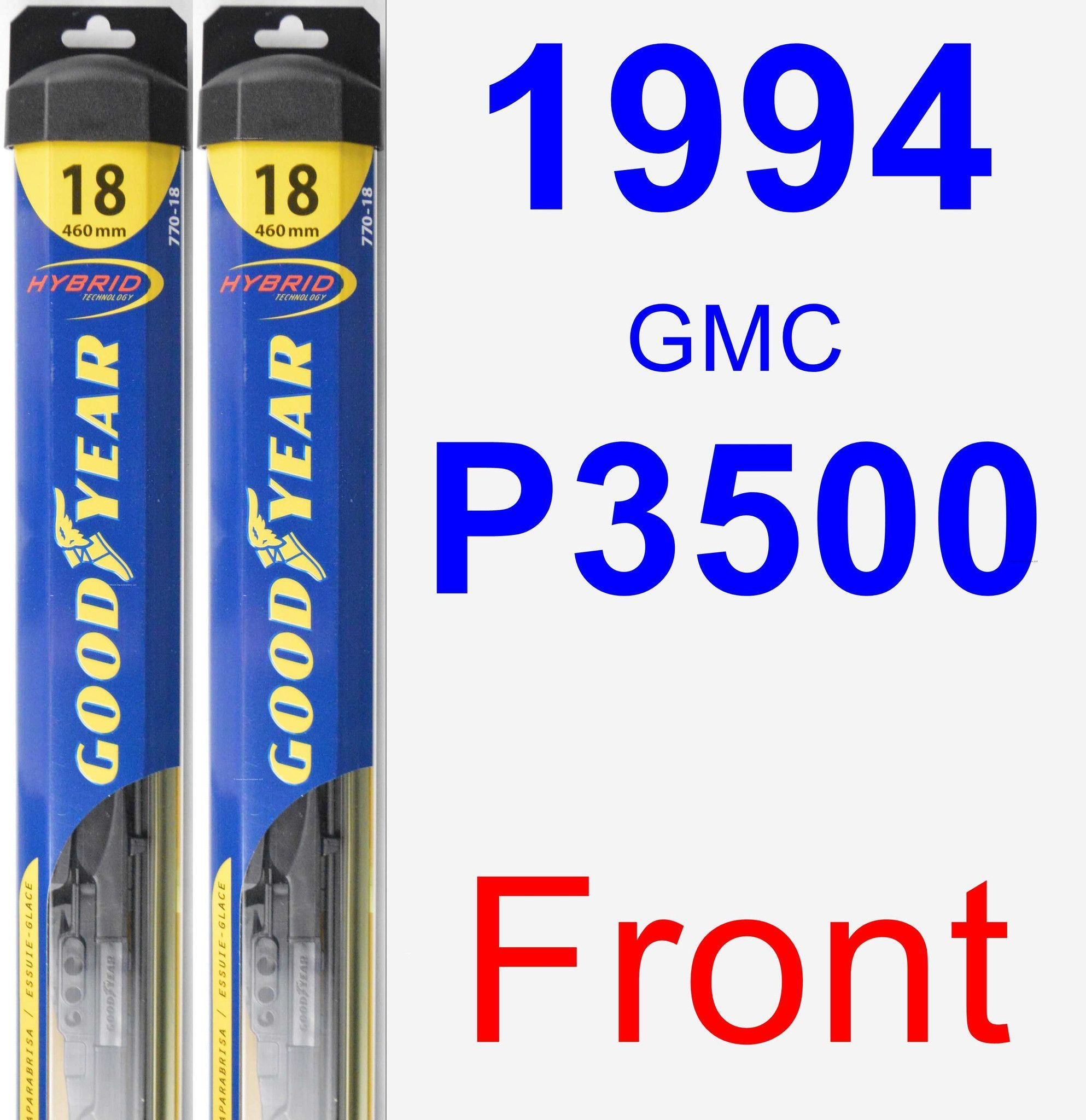 Front wiper blade pack for 1994 gmc p3500 hybrid