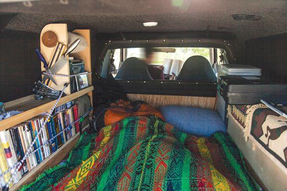 Camionnette bien am nag e pour dormir am nager un camion en van pour voyager fourgon - Orientation d un lit pour bien dormir ...