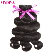 Mydiva Brazilian Body Wave Hair Weave Bundles 10-28 Inch 100% Human Hair Extension 3 Bundles Non Remy Natural Color Free Ship #humanhairextensions