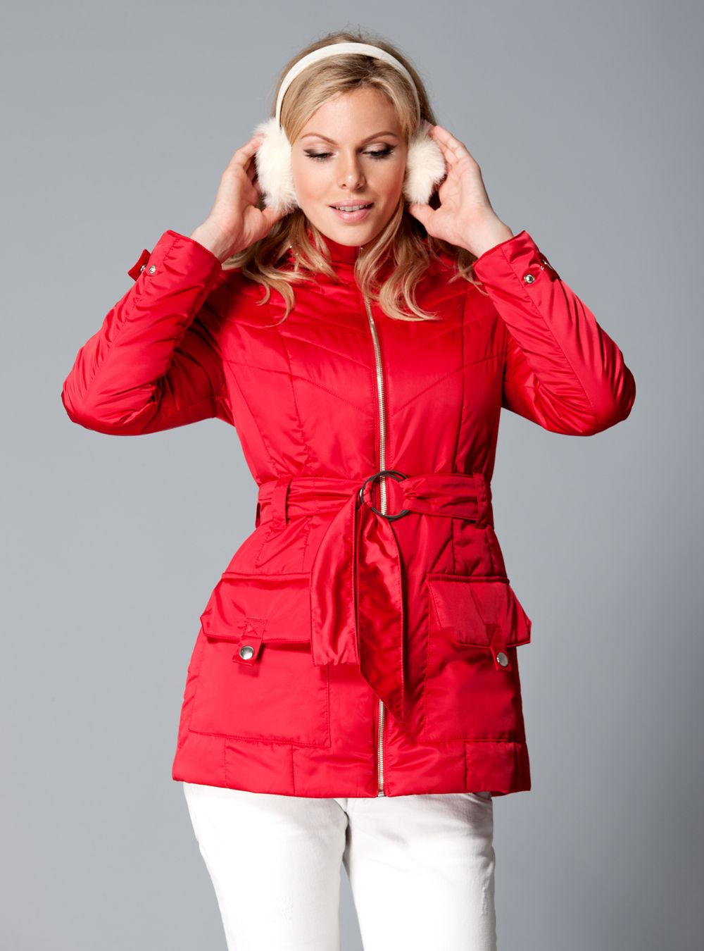 Siberia jacket in red | Clothing for big breasts | DD Atelier http://dd-atelier.com/Coats/