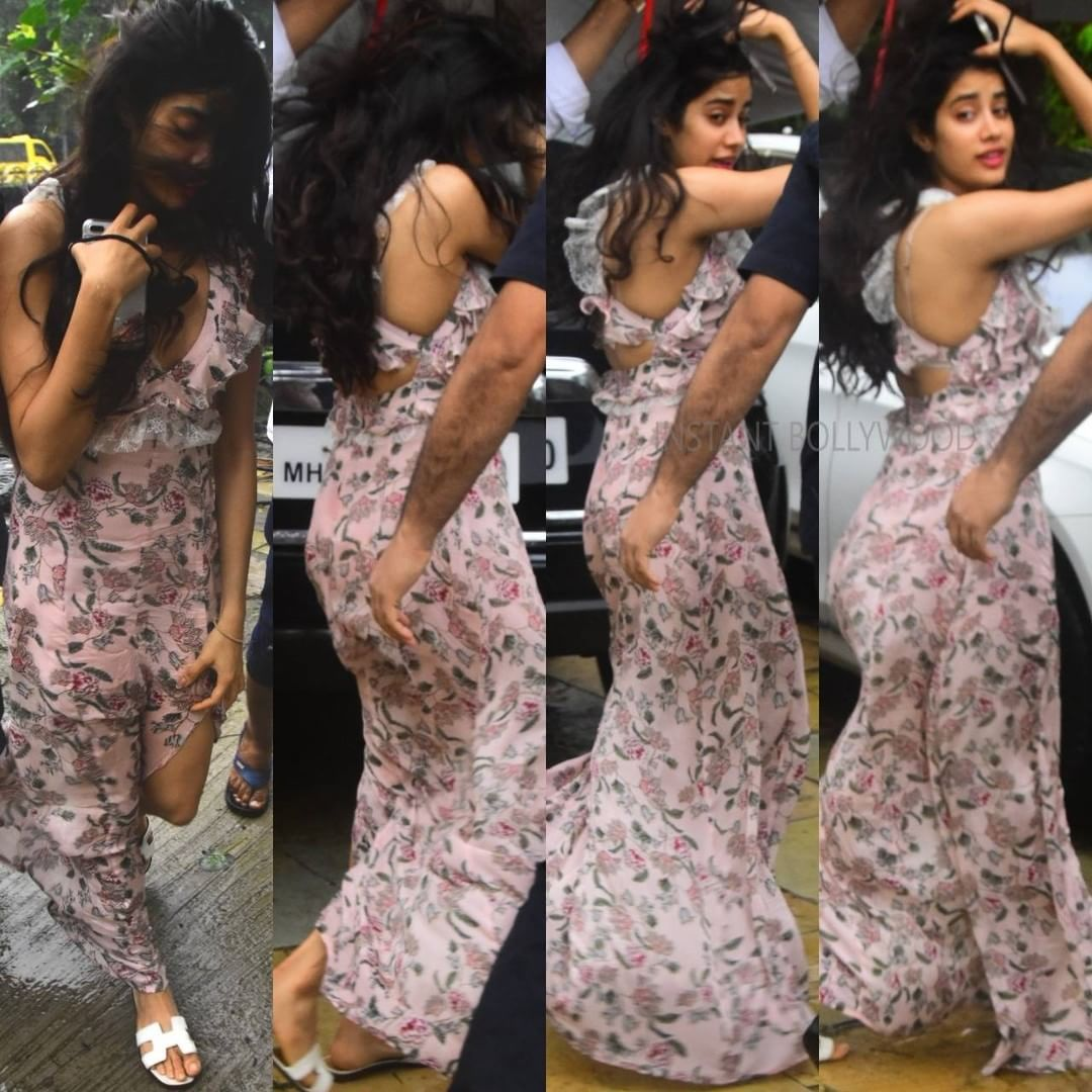 Janhvi Kapoor Looking Hot As Usual Ina Summery Dress For Mira