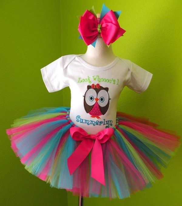 Fruit Punch Owl Birthday Tutu Outfit