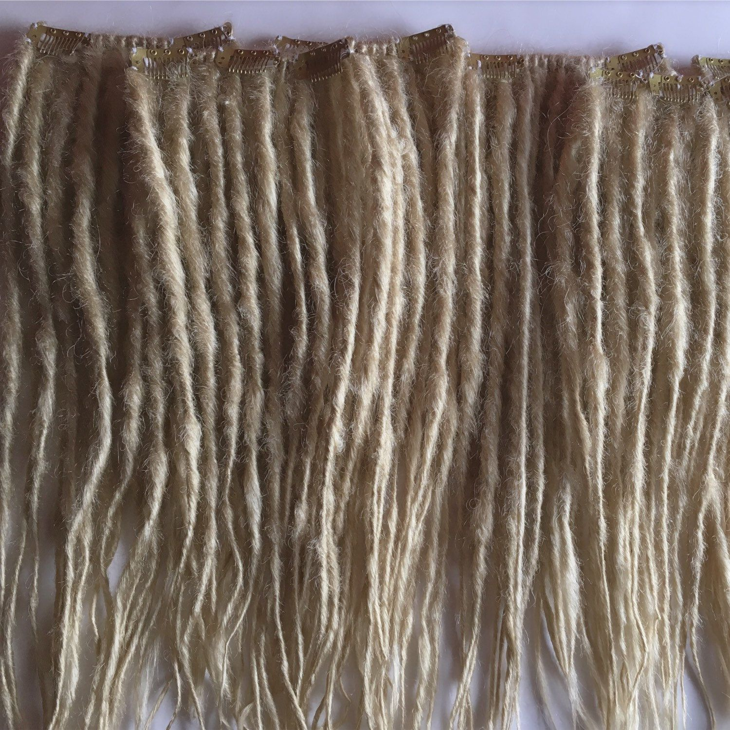 20 Clip in Dreadlocks SE Single Ended Synthetic Dreads Dreadlocs