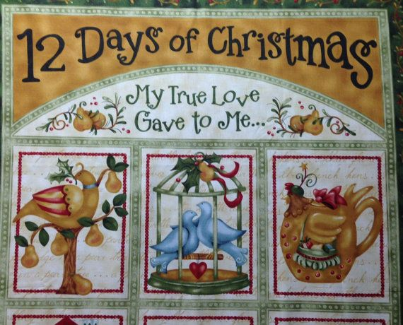 Nancy/'s Holiday Favourites Greetings Card Panel Quilting Fabric Christmas