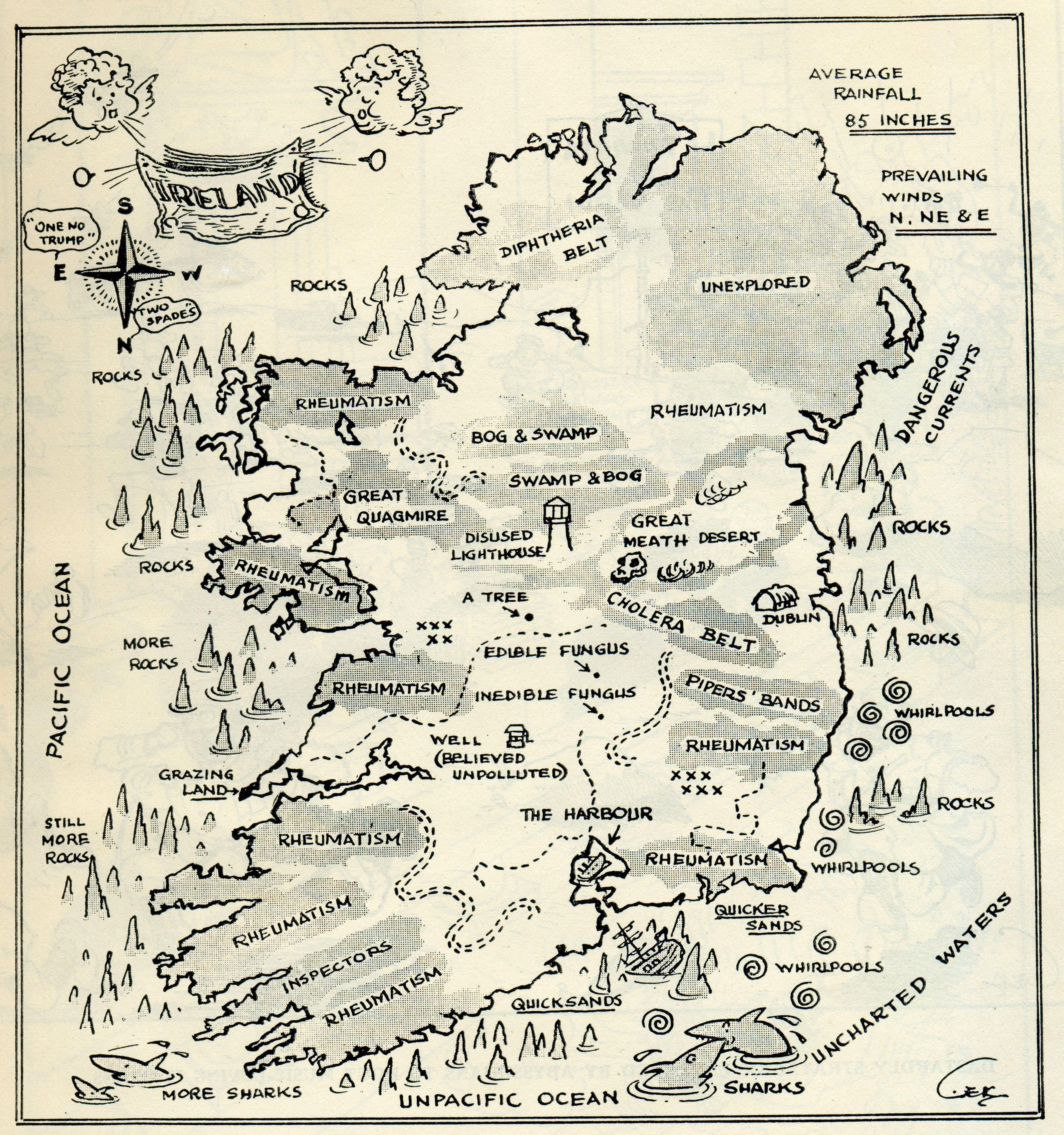 A Map To Keep You Away From Ireland Maps And Misc Pinterest