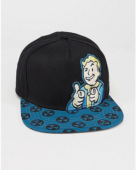 1ffaf5e9a9e16e 3D Embroidered Vault Boy Fallout Snapback Hat - Spencer's | Mens ...