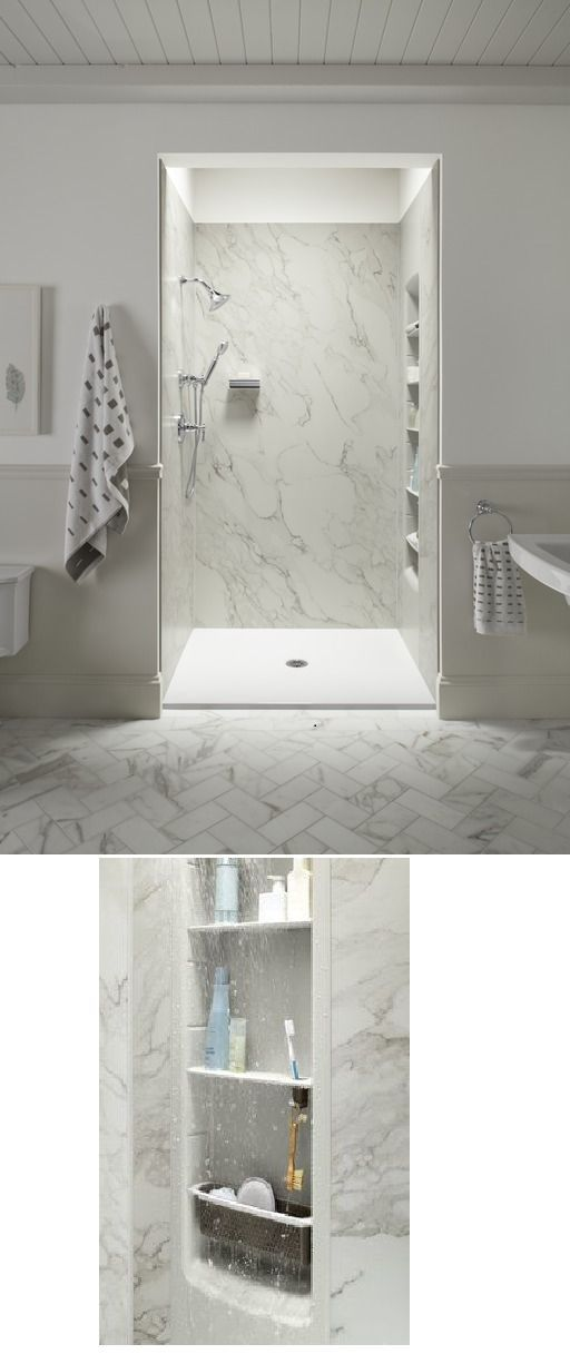 kohlerco offers stylish showers including faux marble walls and ...