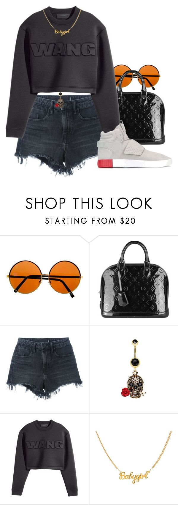"""320"" by dkleaa ❤ liked on Polyvore featuring Louis Vuitton, Alexander Wang, H&M and adidas Originals"
