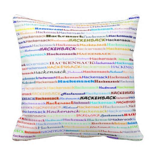 Hackensack Text Design II Throw Pillow