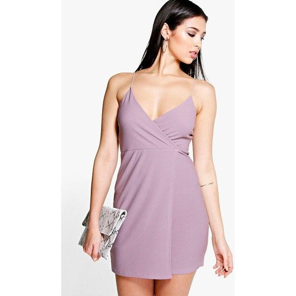 Boohoo Night Pamela Strappy Wrap Detail Bodycon Dress ($26) ❤ liked on Polyvore featuring dresses, mauve, sequin dress, wrap dress, sequin party dresses, sequin bodycon dress and maxi dress