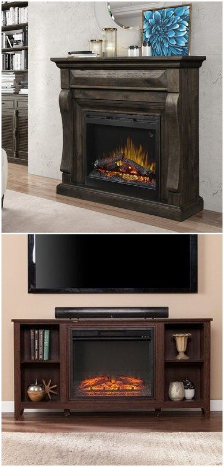 Recycled Pallet Wood Faux Fireplace For Electric Fireplace Pallet Fireplace Electr In 2020 Faux Fireplace Electric Fireplace Pallet Fireplace