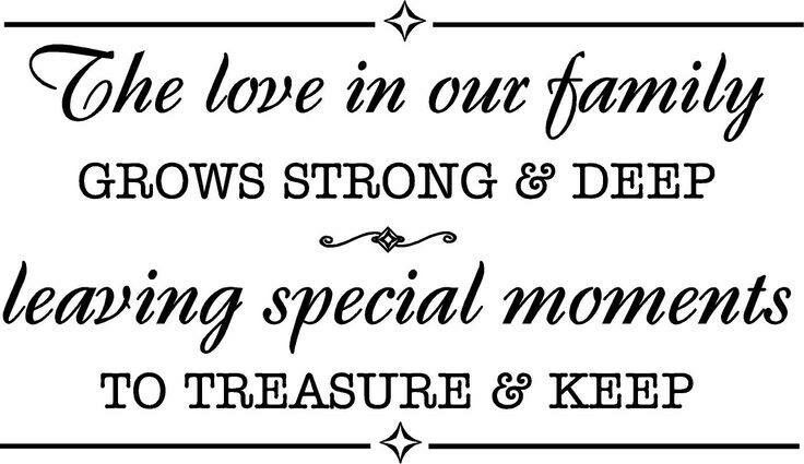 The Love In Our Family Grows Strong And Deep Leaving Special Moments To Treasure Keep Family Love Quotes Happy Family Quotes Family Quotes Images