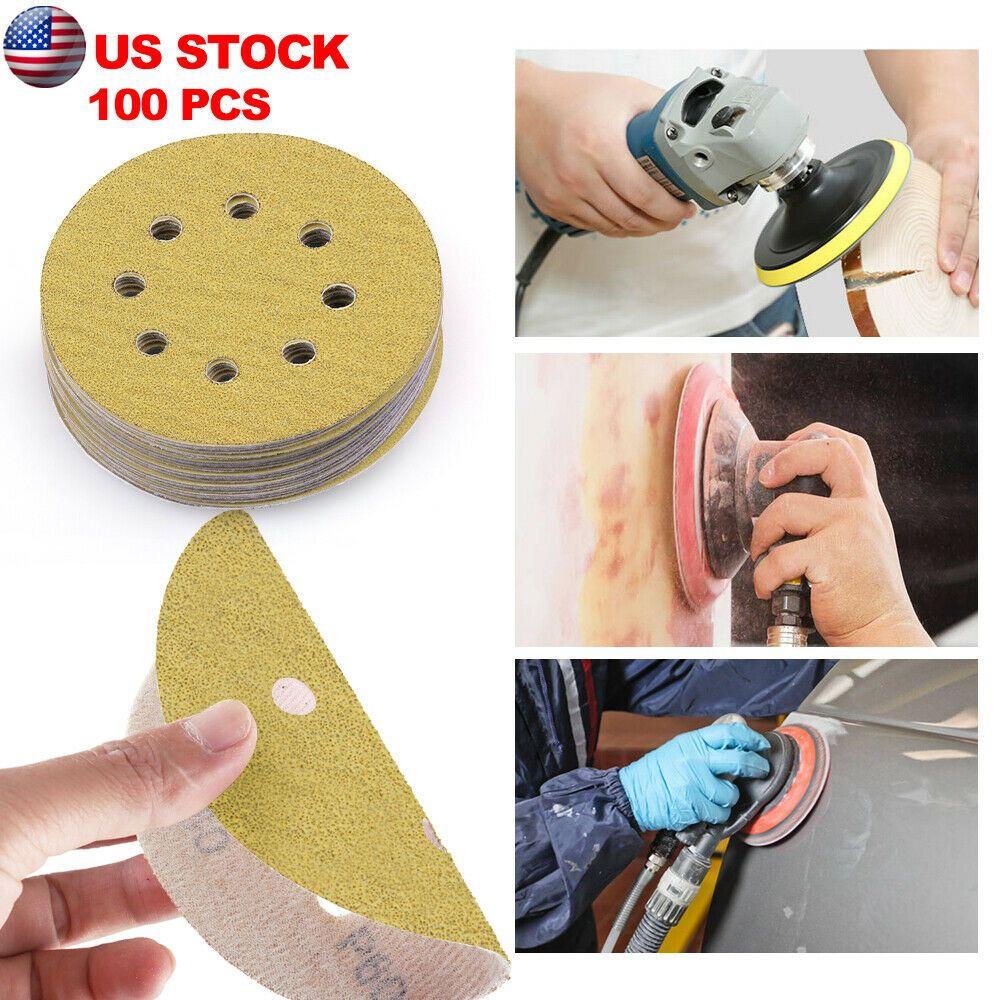 Ebay Advertisement 5 60 80 120 220 Grit Hook Loop Pads Sanding Disc Orbital Sandpaper Sheet Sander Sheet Sander Porter Cable Dewalt