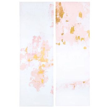 Gold Pink Abstract Canvas Wall Decor Hobby Lobby Wall Decor Canvas Wall Decor Wall Decor Lights
