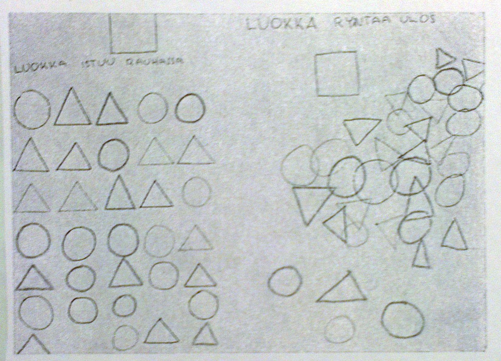 Rytmi: sidottu / vapaa (taustaa). | 3.lk piirustus / sommittelu | Tangled