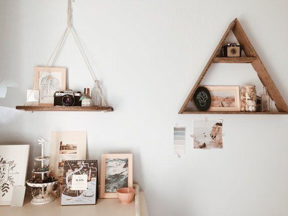 Hanging Shelf Pallet Wood Shelf Swing by FernwehReclaimedWood